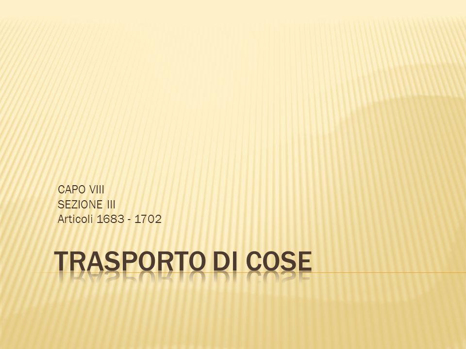CAPO VIII SEZIONE III Articoli 1683 - 1702