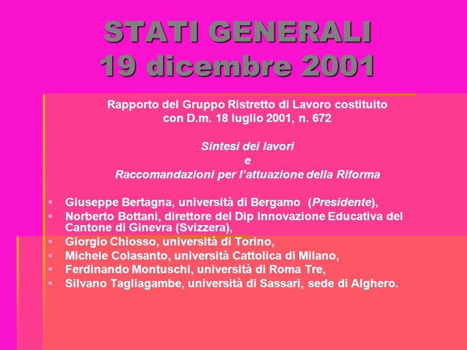 STATI GENERALI 19 dicembre 2001