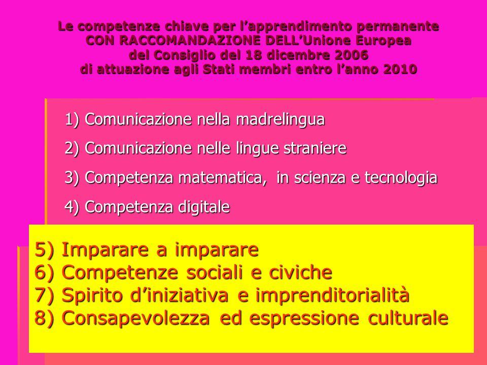 6) Competenze sociali e civiche