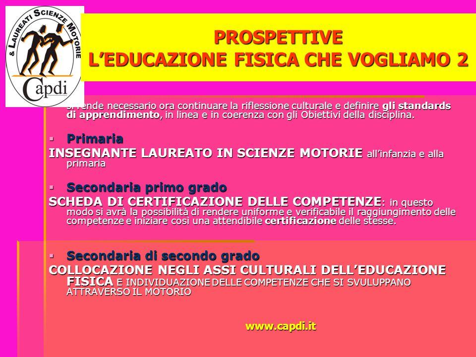 PROSPETTIVE L'EDUCAZIONE FISICA CHE VOGLIAMO 2