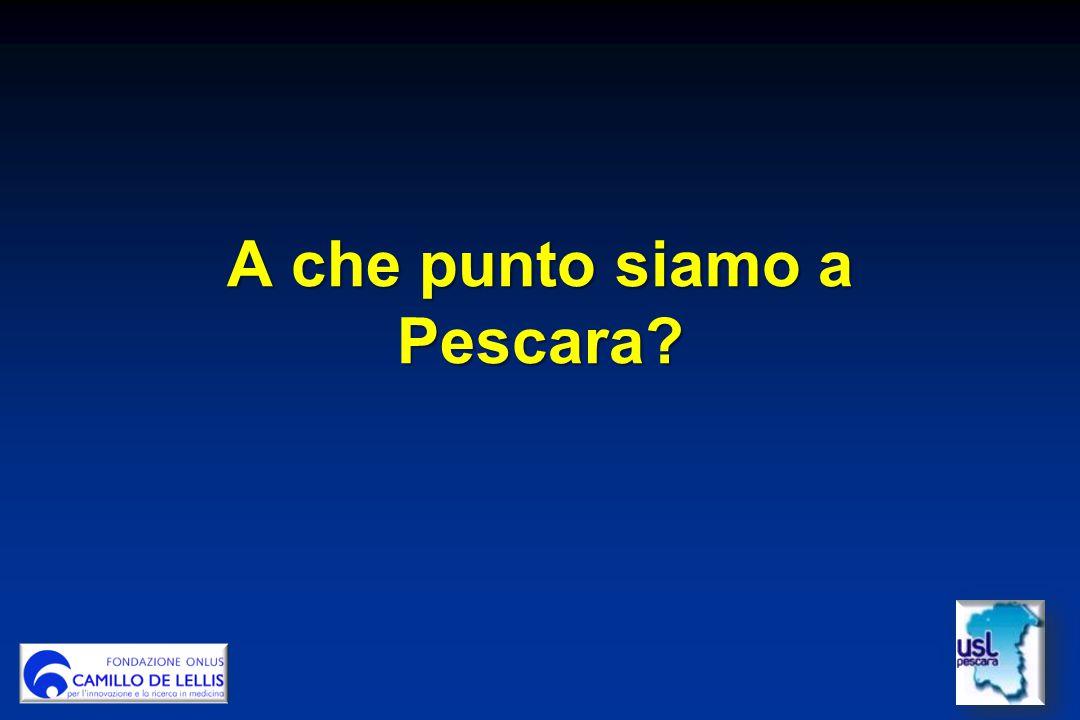 A che punto siamo a Pescara