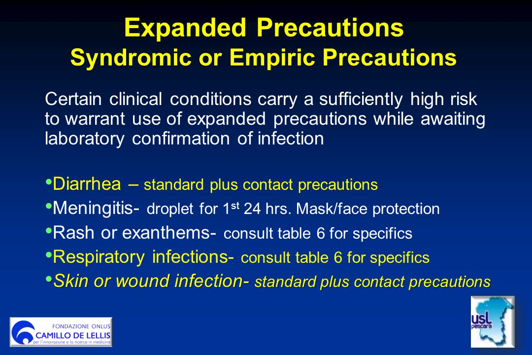 Expanded Precautions Syndromic or Empiric Precautions