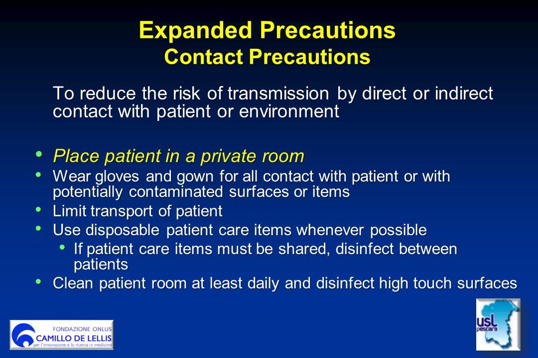 Expanded Precautions Contact Precautions
