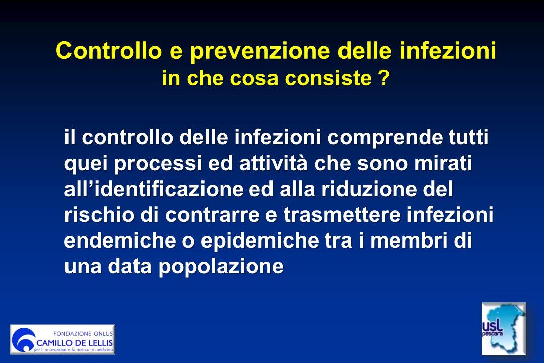 Controllo e prevenzione delle infezioni in che cosa consiste