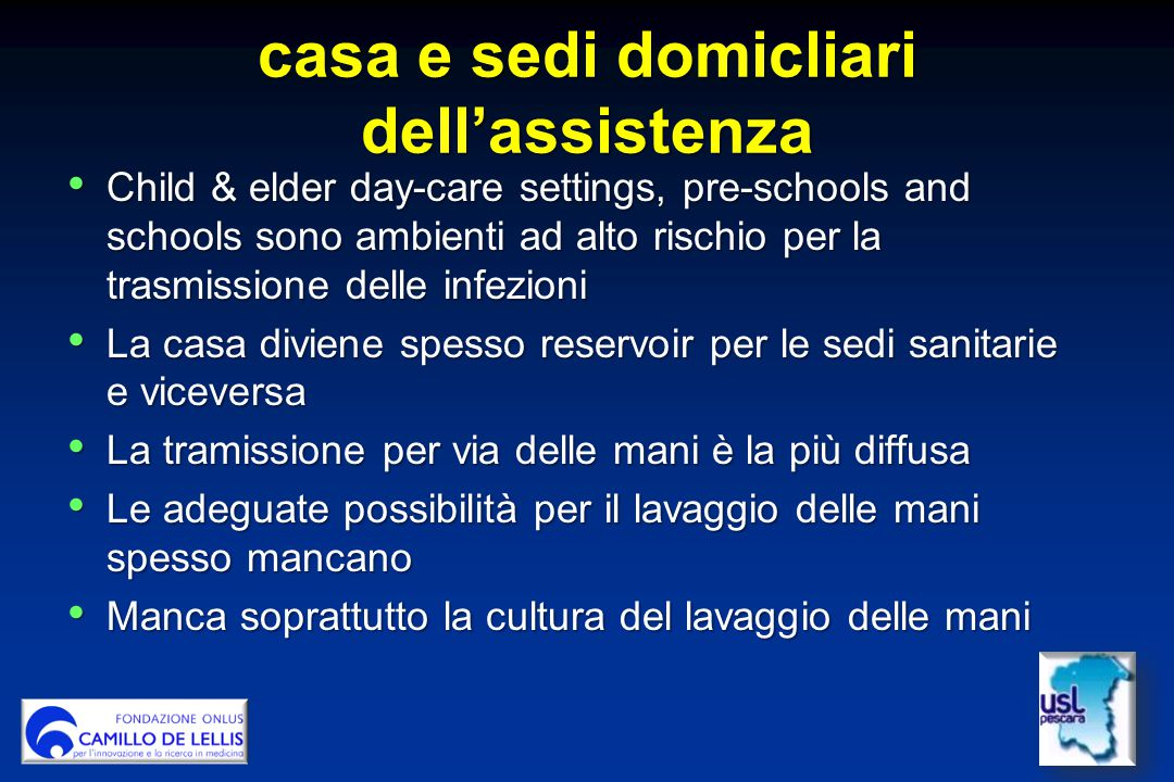 casa e sedi domicliari dell'assistenza
