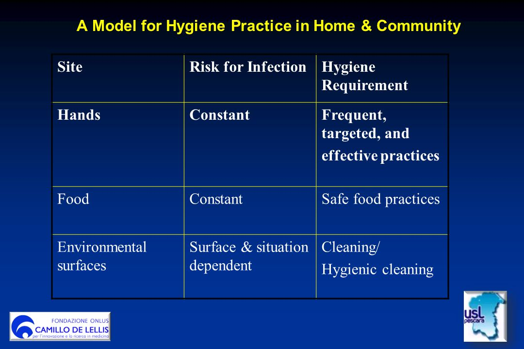 A Model for Hygiene Practice in Home & Community