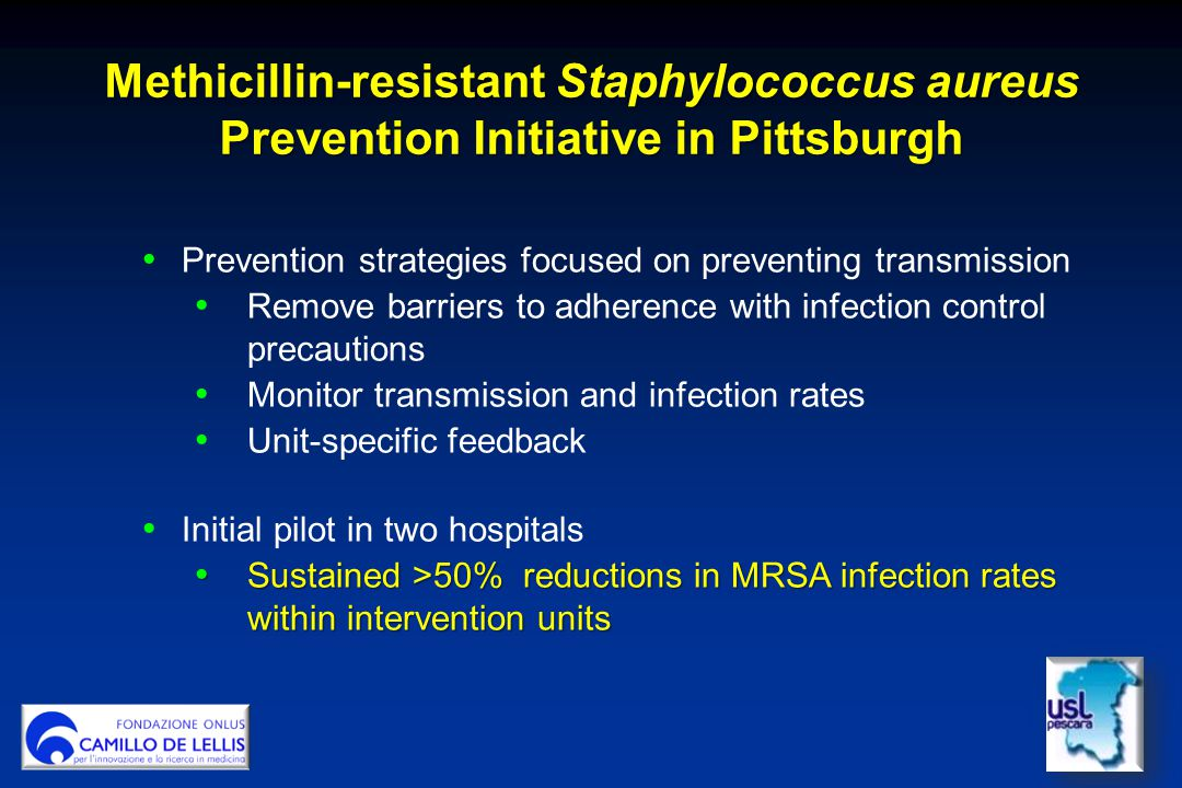 Methicillin-resistant Staphylococcus aureus Prevention Initiative in Pittsburgh