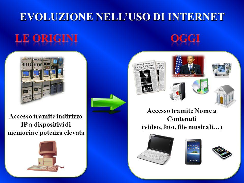 EVOLUZIONE NELL'USO DI INTERNET