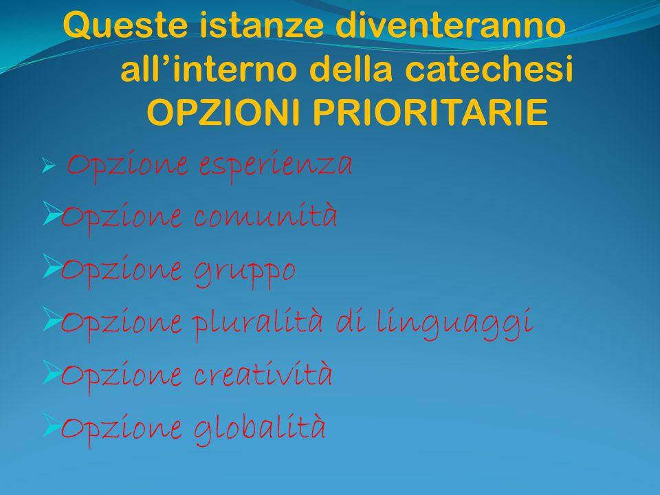 Opzione pluralità di linguaggi Opzione creatività Opzione globalità