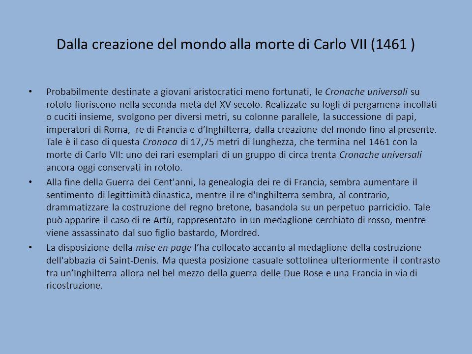 Dalla creazione del mondo alla morte di Carlo VII (1461 )