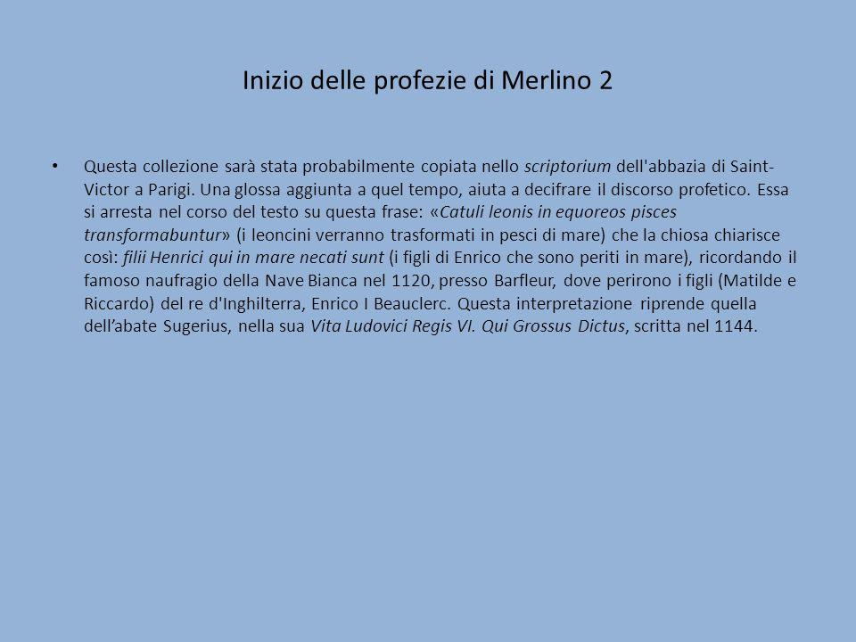 Inizio delle profezie di Merlino 2