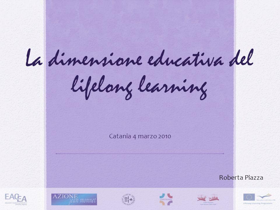 La dimensione educativa del lifelong learning