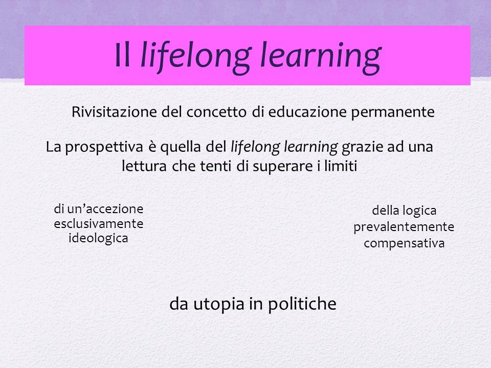 Il lifelong learning da utopia in politiche