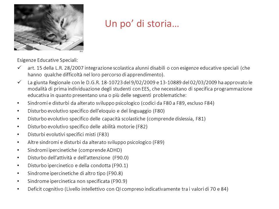 Un po' di storia… Esigenze Educative Speciali: