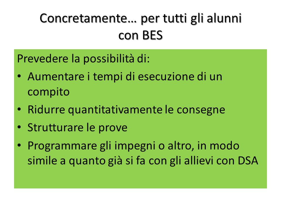 Concretamente… per tutti gli alunni con BES