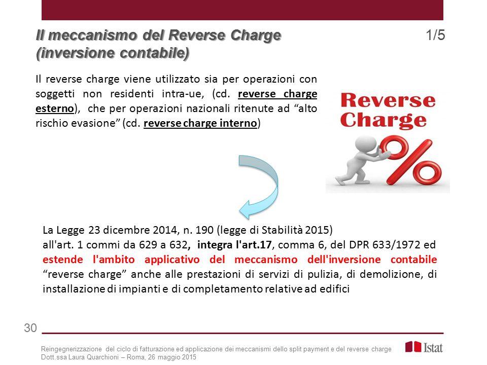 Il meccanismo del Reverse Charge 1/5 (inversione contabile)
