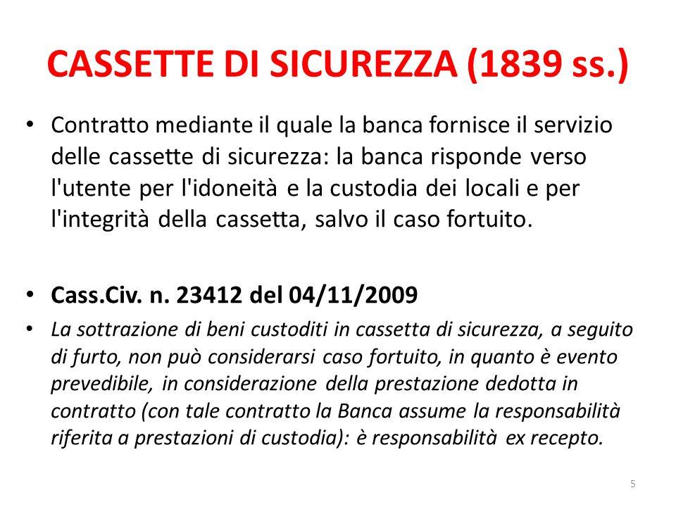 CASSETTE DI SICUREZZA (1839 ss.)