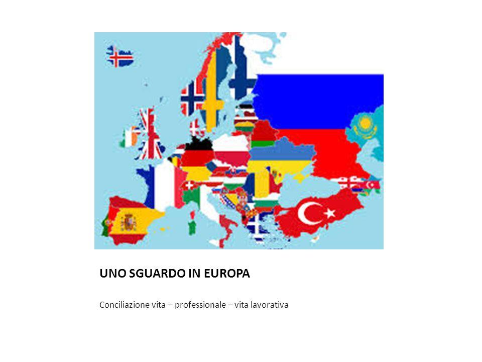 UNO SGUARDO IN EUROPA Conciliazione vita – professionale – vita lavorativa