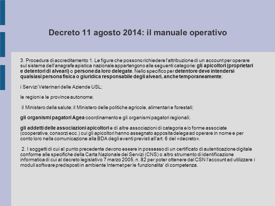 Decreto 11 agosto 2014: il manuale operativo