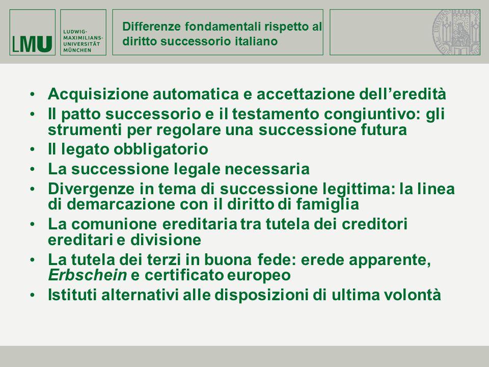 Differenze fondamentali rispetto al diritto successorio italiano