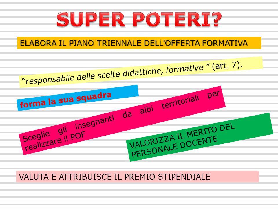 SUPER POTERI ELABORA IL PIANO TRIENNALE DELL'OFFERTA FORMATIVA