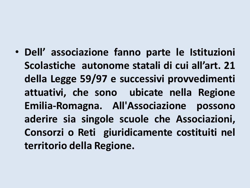 Dell' associazione fanno parte le Istituzioni Scolastiche autonome statali di cui all'art.