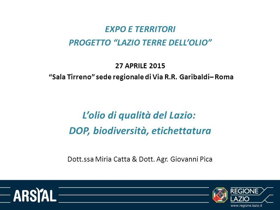L'olio di qualità del Lazio: DOP, biodiversità, etichettatura