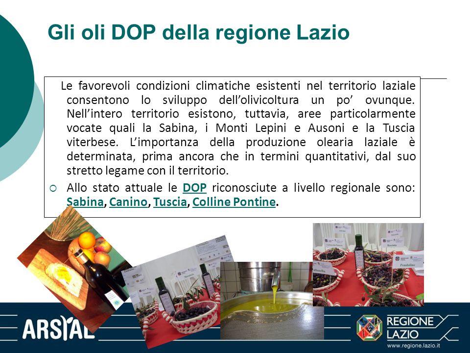 Gli oli DOP della regione Lazio