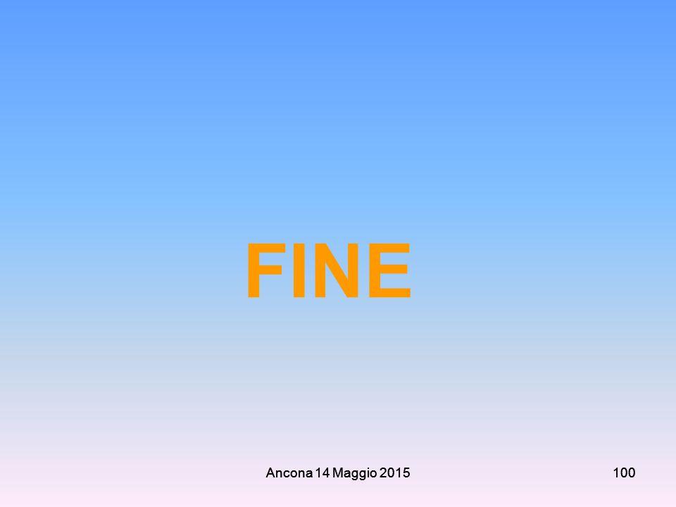 FINE Ancona 14 Maggio 2015 Ancona 14 Maggio 2015 100