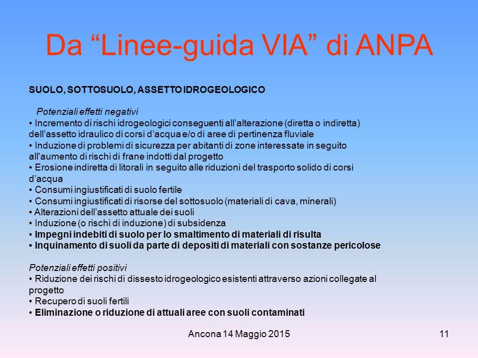 Da Linee-guida VIA di ANPA