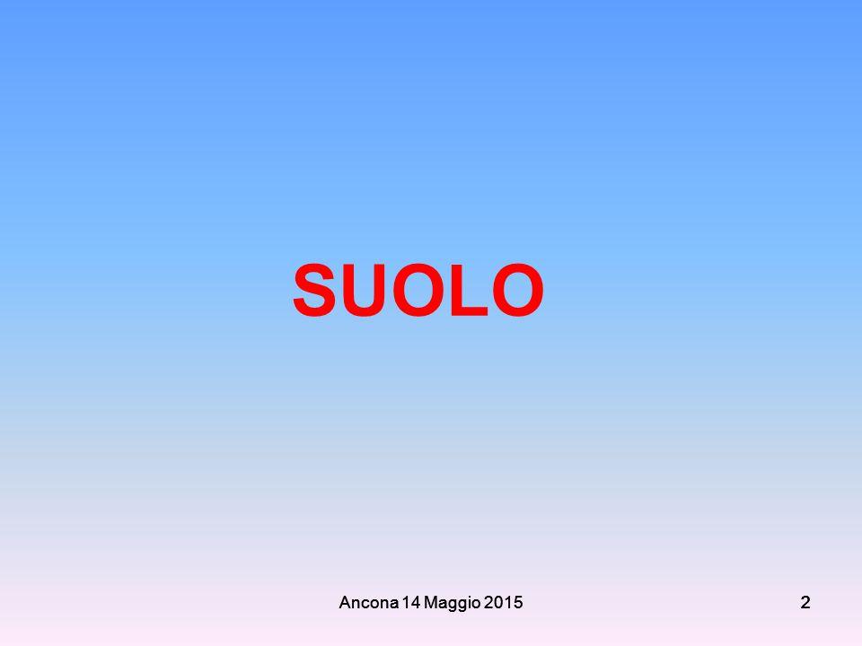 SUOLO Ancona 14 Maggio 2015 Ancona 14 Maggio 2015 2 2 2