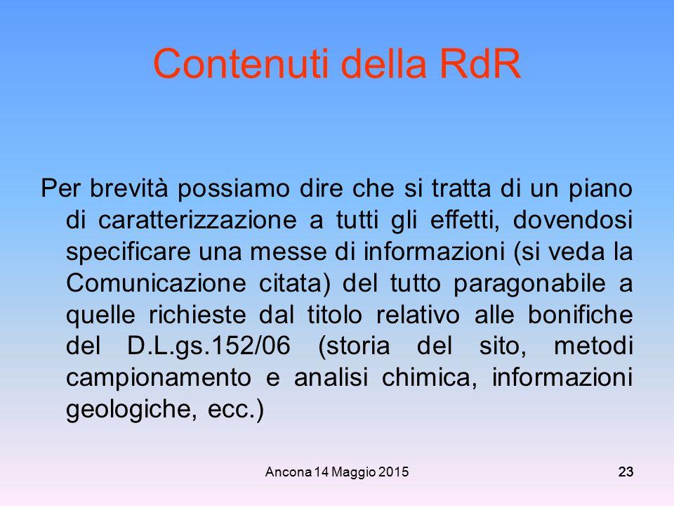 Contenuti della RdR