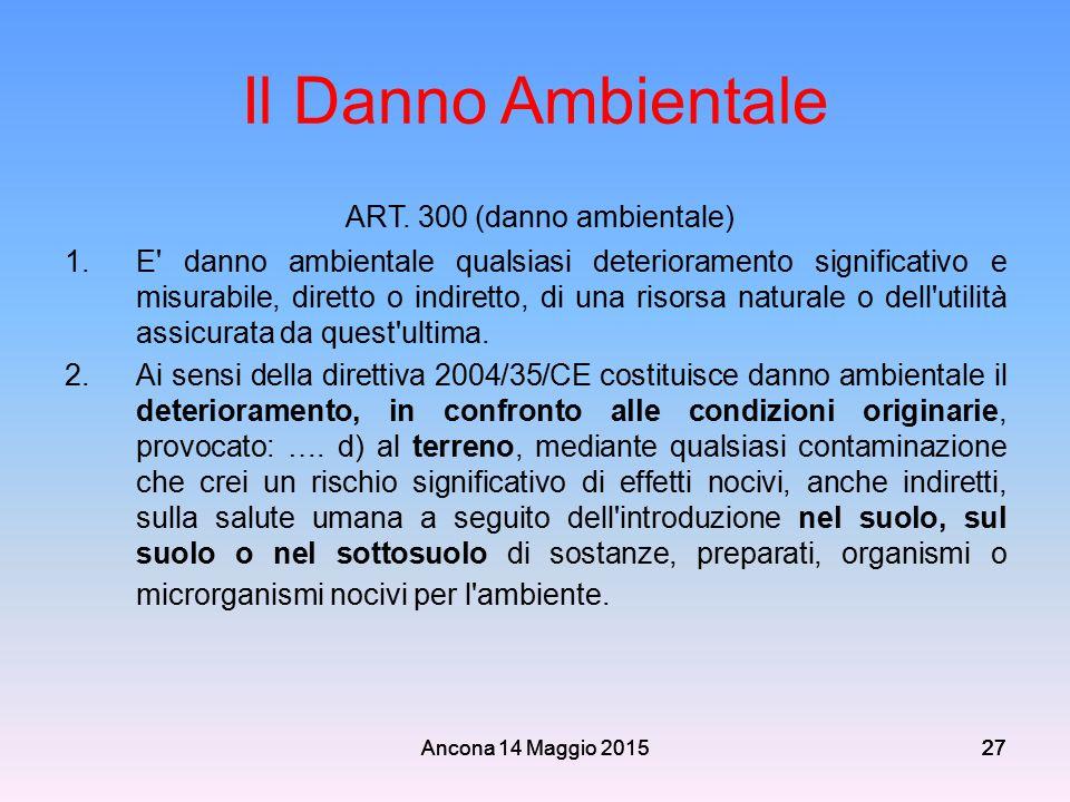 ART. 300 (danno ambientale)
