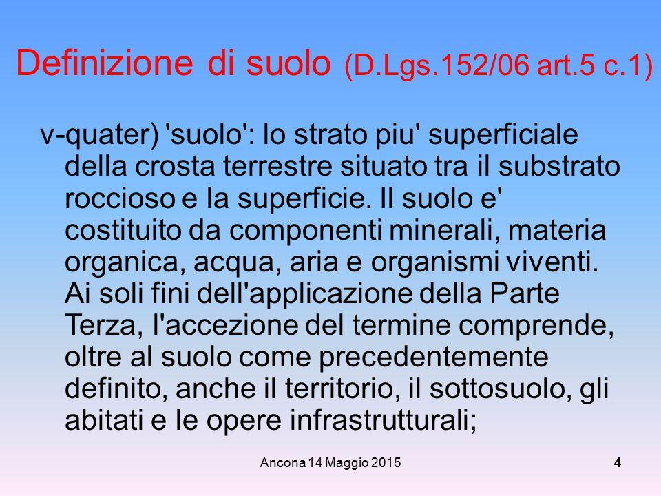 Definizione di suolo (D.Lgs.152/06 art.5 c.1)