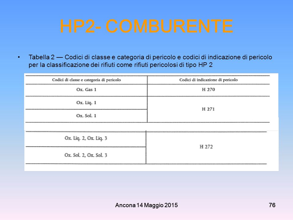 HP2- COMBURENTE