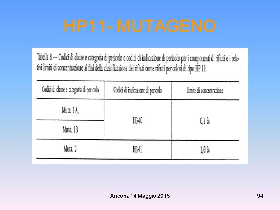 HP11- MUTAGENO Ancona 14 Maggio 2015 Ancona 14 Maggio 2015 94