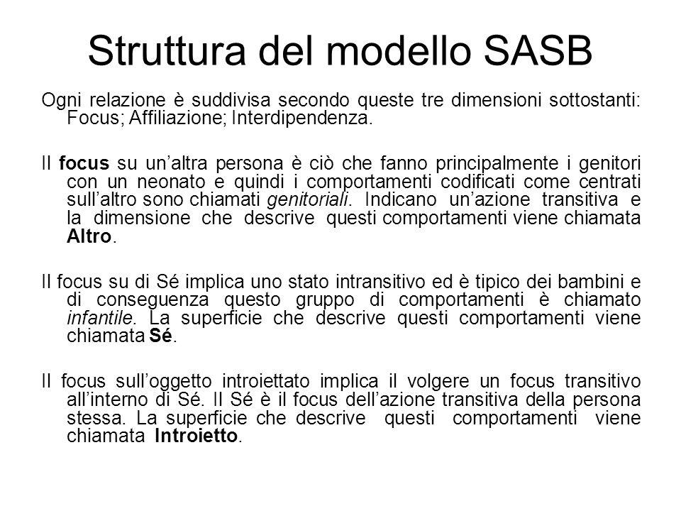 Struttura del modello SASB