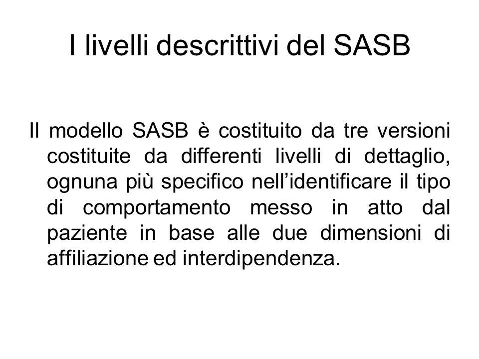 I livelli descrittivi del SASB