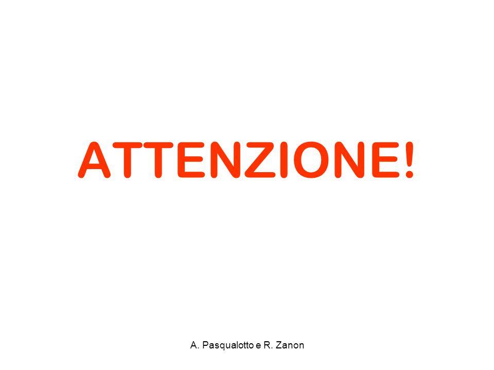ATTENZIONE! A. Pasqualotto e R. Zanon