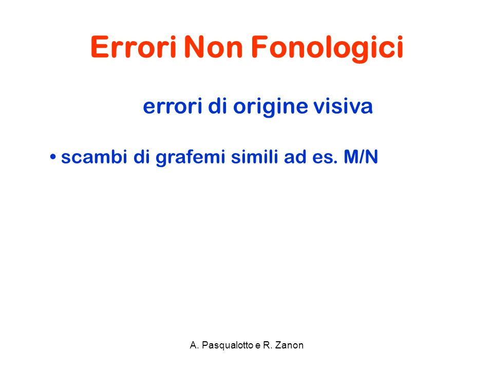errori di origine visiva