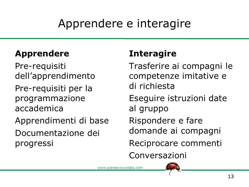 Apprendere e interagire