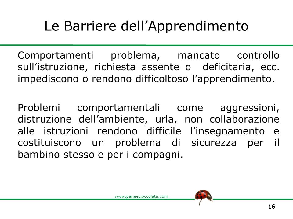 Le Barriere dell'Apprendimento