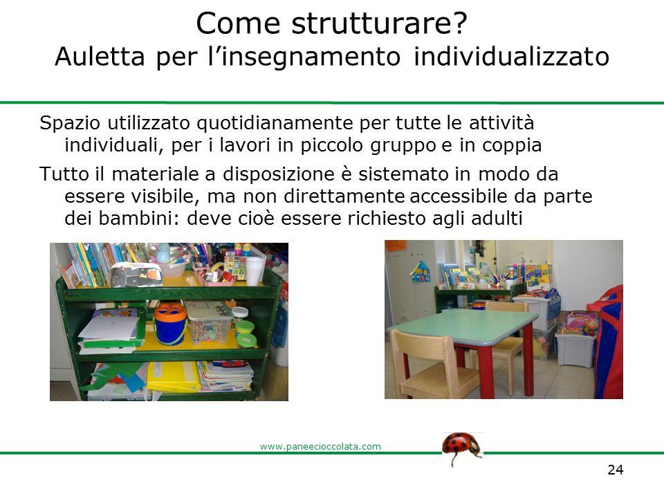 Come strutturare Auletta per l'insegnamento individualizzato