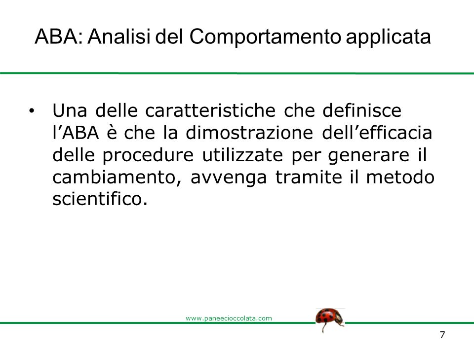 ABA: Analisi del Comportamento applicata