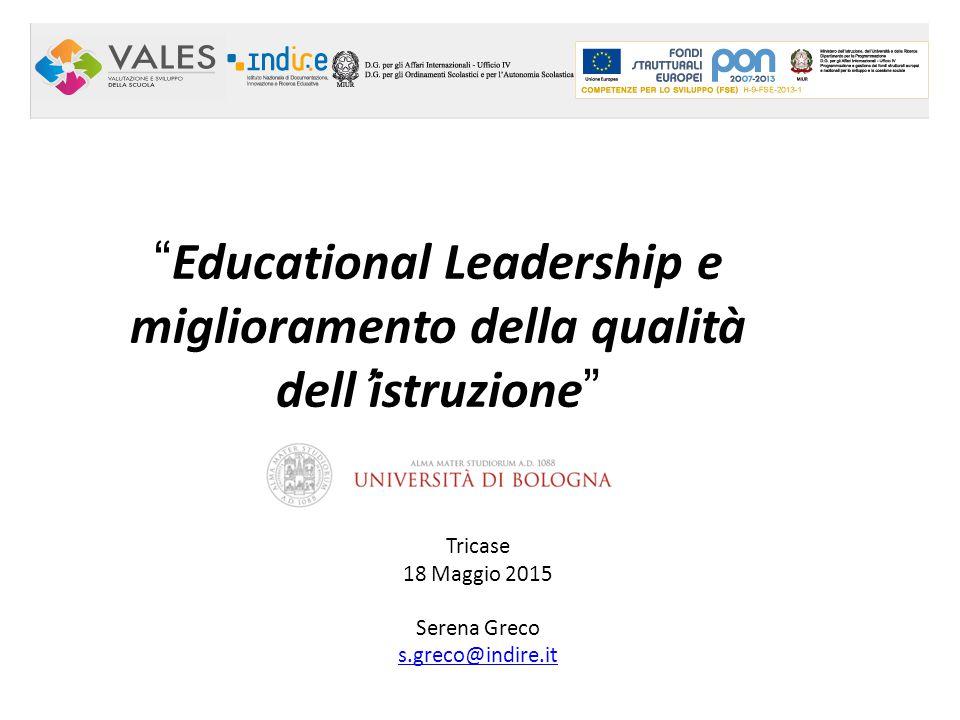 Educational Leadership e miglioramento della qualità dell'istruzione