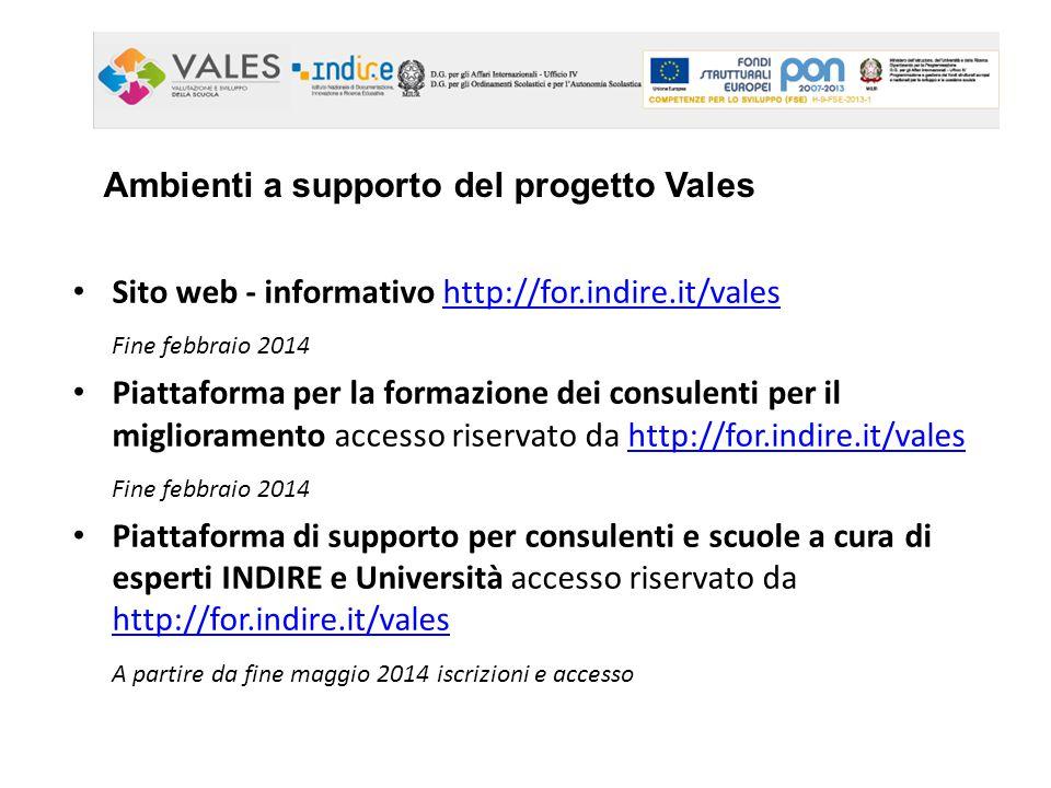 Ambienti a supporto del progetto Vales