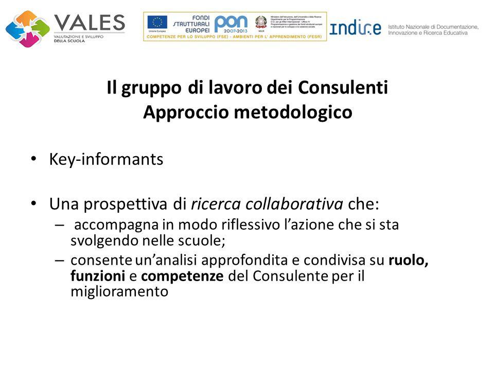 Il gruppo di lavoro dei Consulenti Approccio metodologico