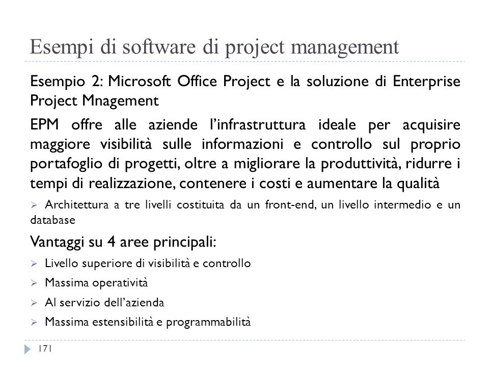 Esempi di software di project management