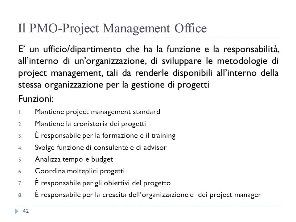 Il PMO-Project Management Office
