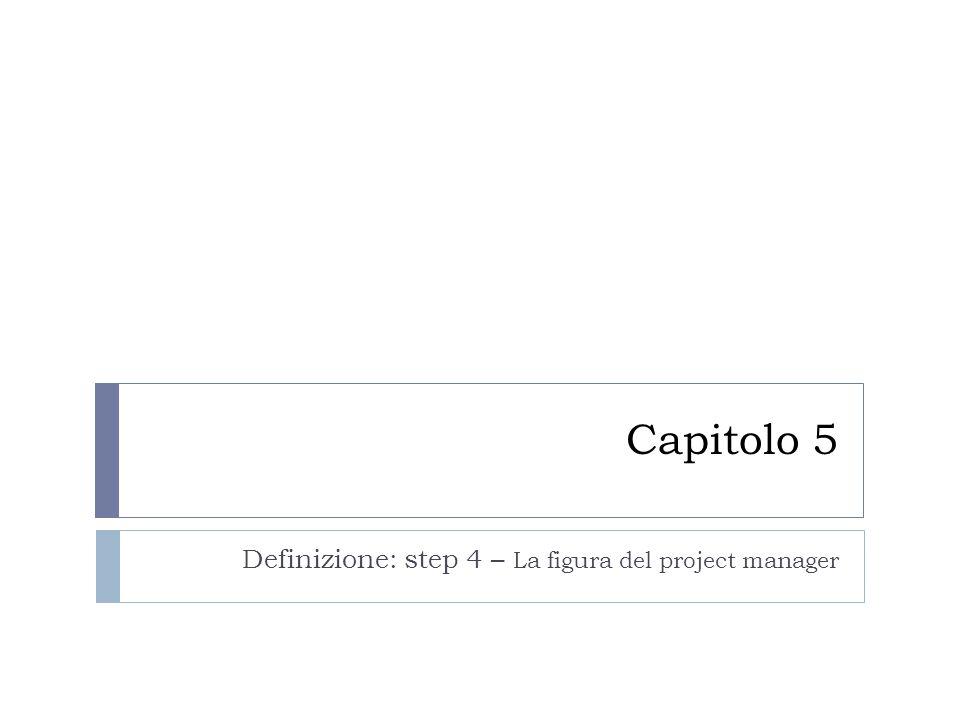 Definizione: step 4 – La figura del project manager